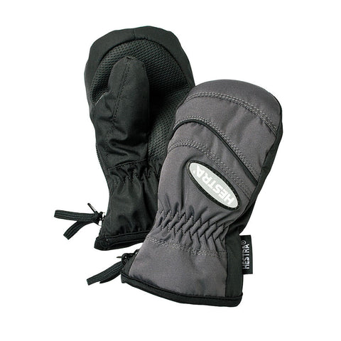Hestra Baby Zip Primaloft Mittens (Graphite)-Little Adventure Shop