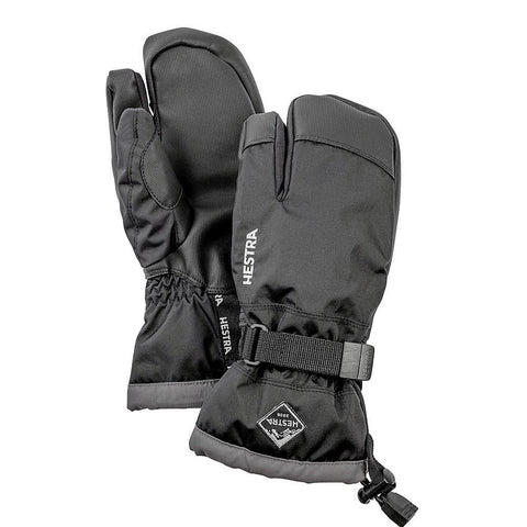 Hestra C-Zone Jr 3-Fingered Kids Ski Gloves (Black)-Little Adventure Shop