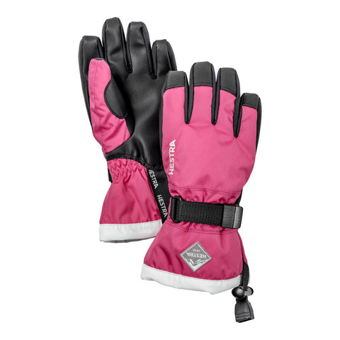 Hestra C-Zone Gauntlet Kids Ski Gloves (Fushia)-Little Adventure Shop