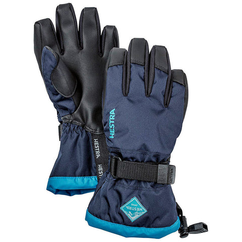 Hestra C-Zone Gauntlet Kids Ski Gloves (Navy)-Little Adventure Shop