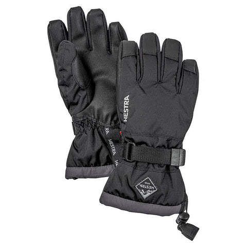 Hestra C-Zone Gauntlet Kids Ski Gloves (Black)-Little Adventure Shop