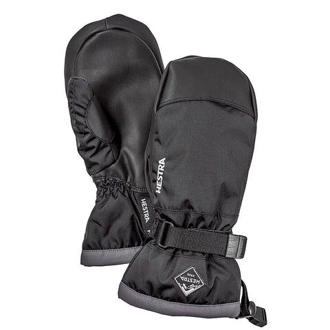Hestra C-Zone Jr Gauntlet Kids Ski Mittens (Black)-Little Adventure Shop