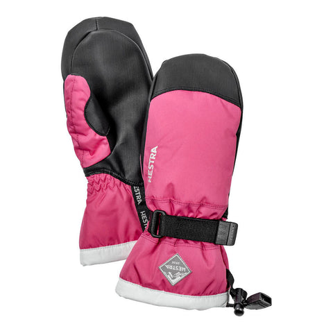 Hestra C-Zone Jr Gauntlet Kids Ski Mittens (Fushia)-Little Adventure Shop