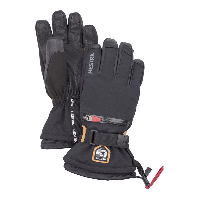 Hestra C-Zone All Mountain Kids Ski Gloves (Black)-Little Adventure Shop