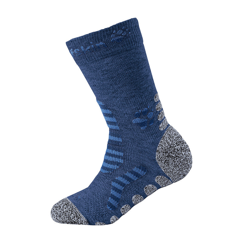 Jack Wolfskin Kids Hiking Classic Socks (Navy)-Little Adventure Shop