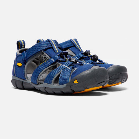 Keen Kids Seacamp CNX Sandals (Blue Depths Gargoyle)-Little Adventure Shop