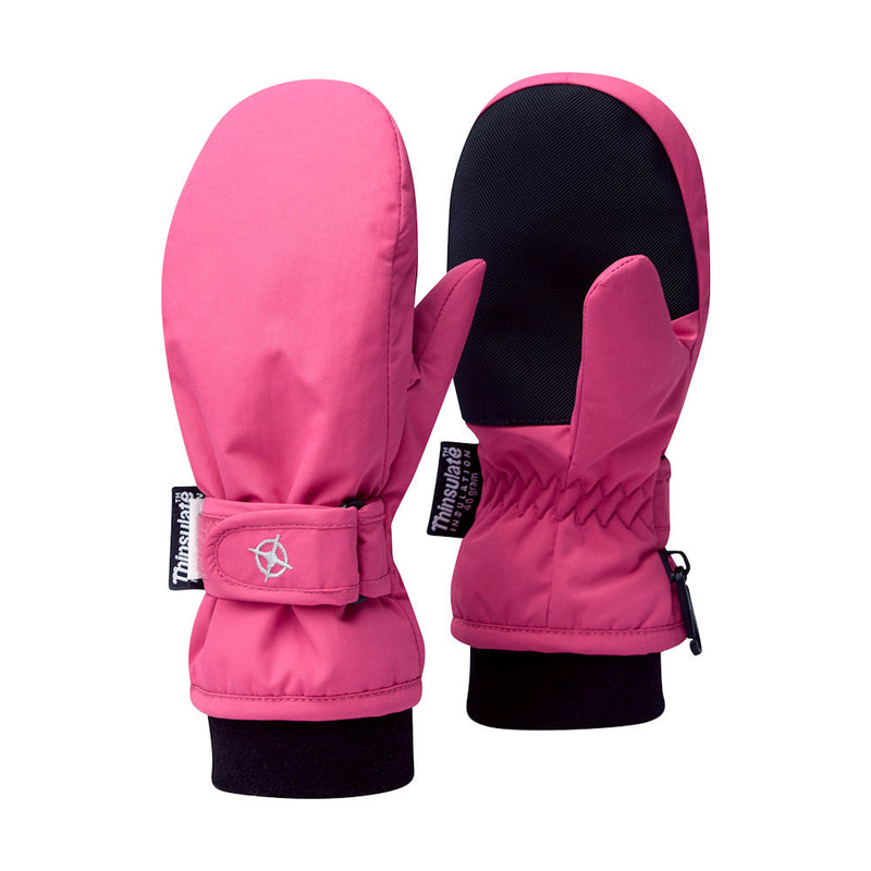Kids Snowpaw Mittens (Pink)-Little Adventure Shop