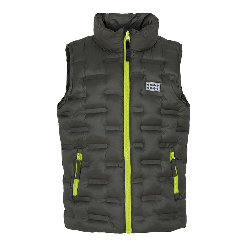 Lego® Wear Kids Insulated Vest (Dark Green)-Little Adventure Shop