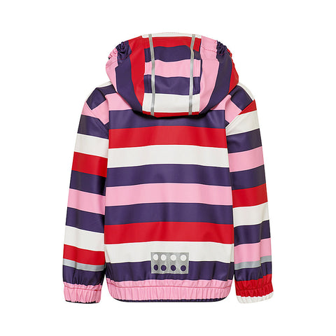 Lego® Wear Kids Rain Jacket (Purple Stripe)-Little Adventure Shop
