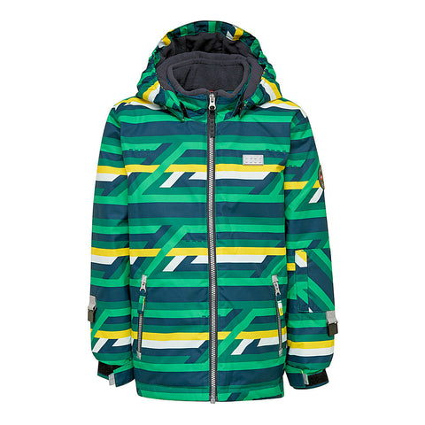 Lego® Wear Tec Kids Ski Jacket (Green Bricks)-Little Adventure Shop