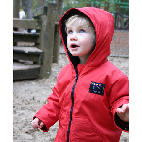 Little Buffalo Kids Winter Jacket (Red)-Little Adventure Shop