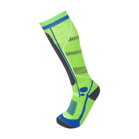 Lorpen Kids T3 Ski Light Merino Socks (Lime Green)-Little Adventure Shop