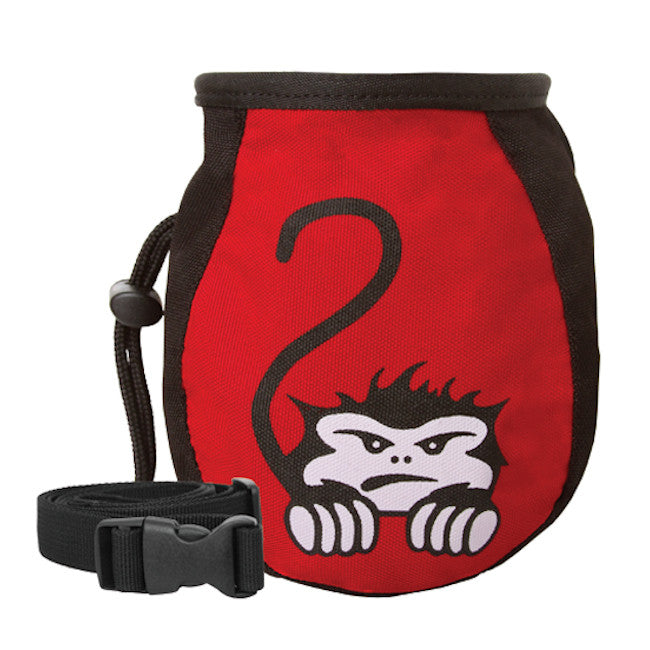 Mad Monkey Kids Chalk Bag and Belt (Red)