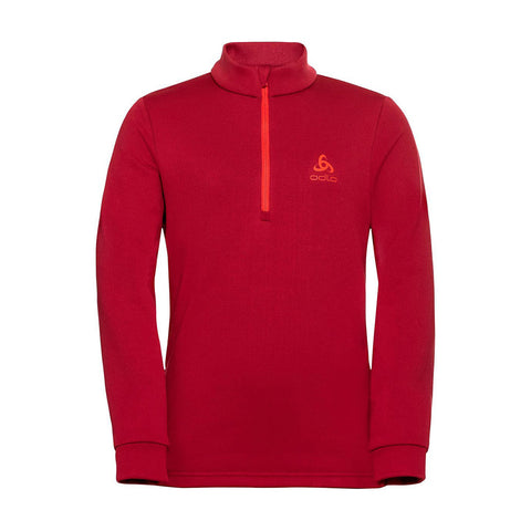 Odlo Kids Carve Midlayer 1/2 Zip (Red)-Little Adventure Shop