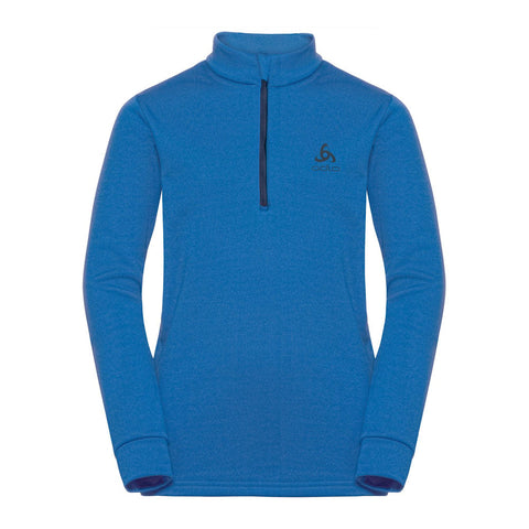 Odlo Kids Carve Midlayer 1/2 Zip (Blue)-Little Adventure Shop