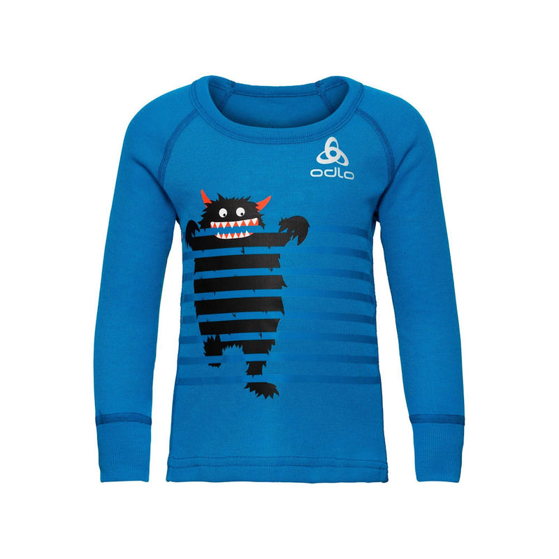 Odlo Little Kids Thermal Top (Blue)-Little Adventure Shop