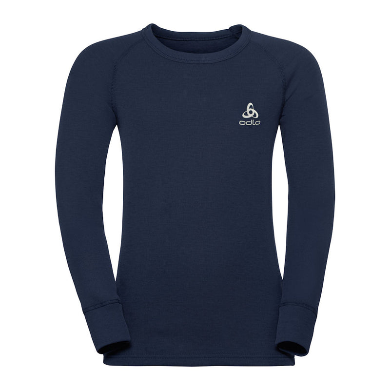 Odlo Kids Warm Crew Thermal Top (Navy)