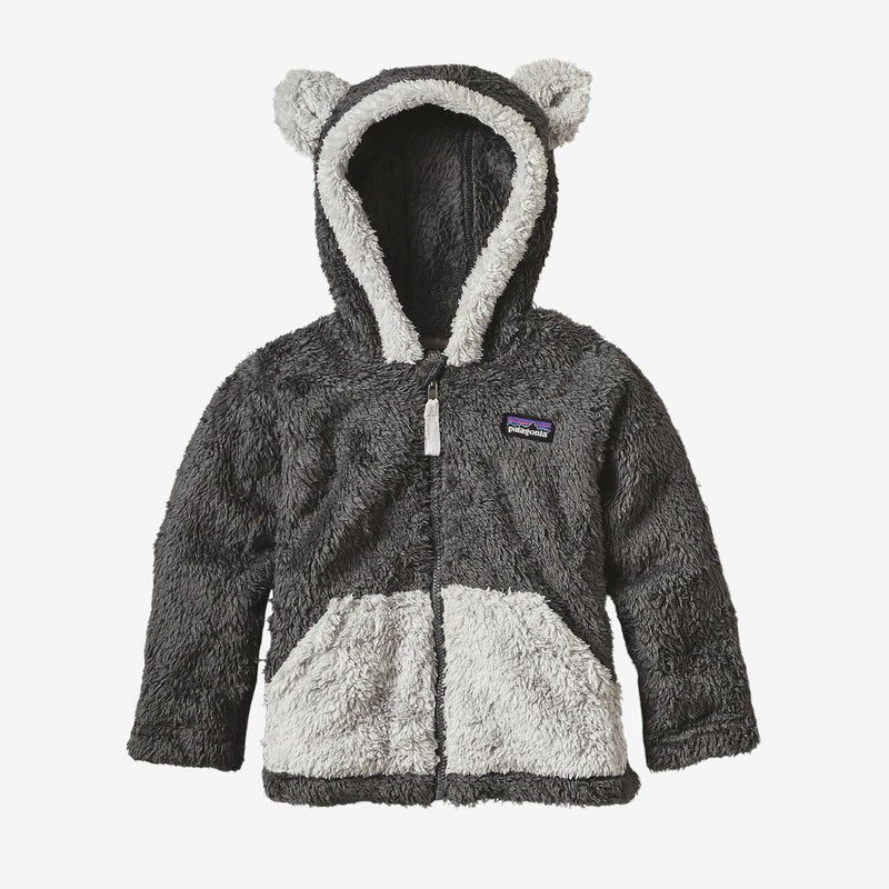 Patagonia Baby Furry Friends Cardigan (Forge Grey)-Little Adventure Shop