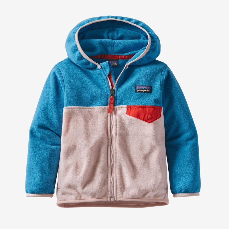 Patagonia Baby Micro D Snap-T Jacket (Seafan Pink)-Little Adventure Shop