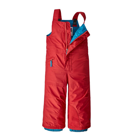Patagonia Baby Snow Pile Bibs (Fire)-Little Adventure Shop