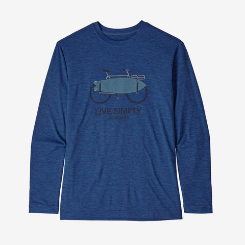 Patagonia Boys' Long-Sleeved Capilene® Cool Daily T-Shirt (Amphibious Bike)-Little Adventure Shop