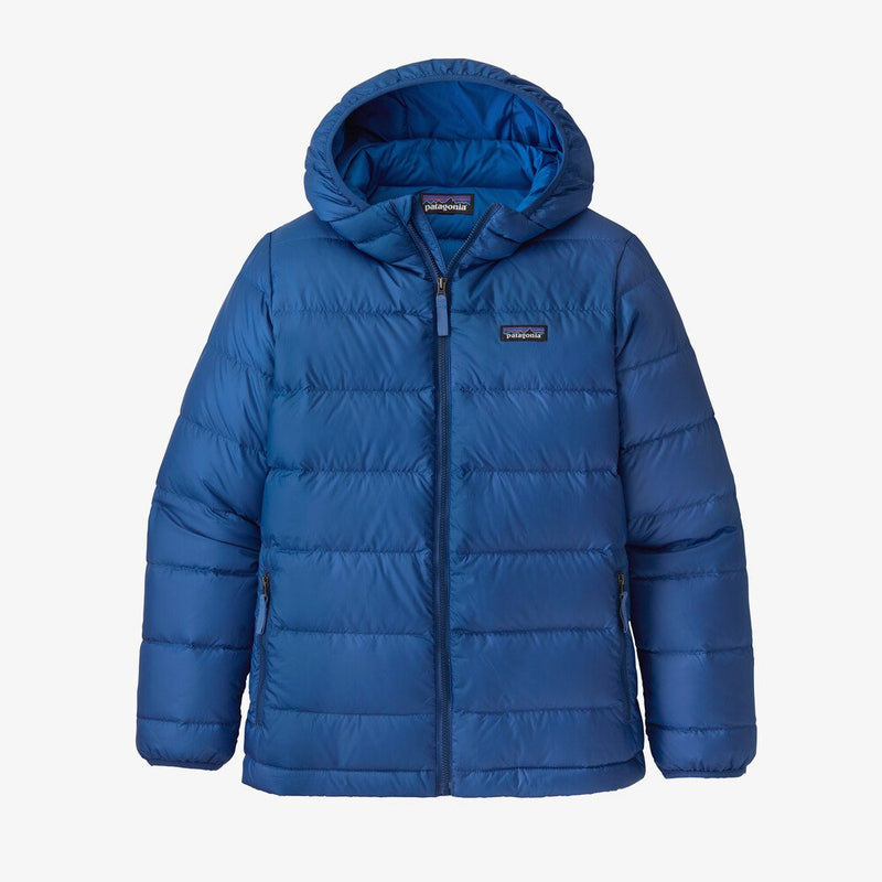 Patagonia Boys Hi Loft Down Sweater Hoody (Superior Blue)-Little Adventure Shop