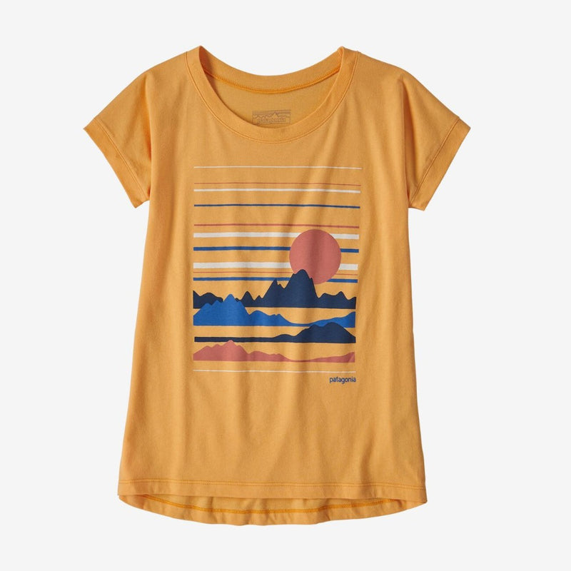 Patagonia Girls Graphic Organic T-Shirt (Saffron)-Little Adventure Shop