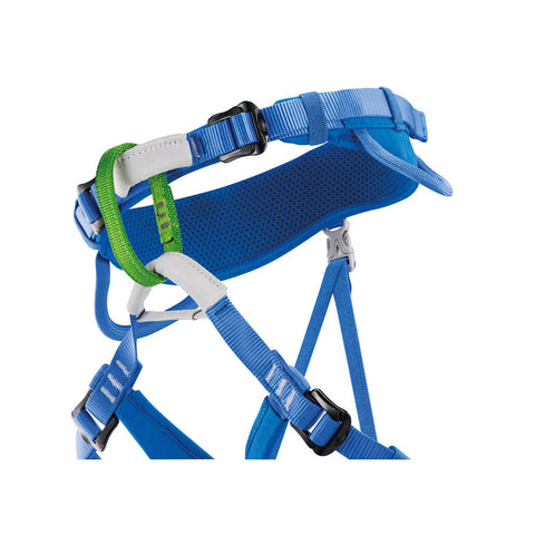 Petzl Macchu Kids Climbing Harness (Blue)-Little Adventure Shop
