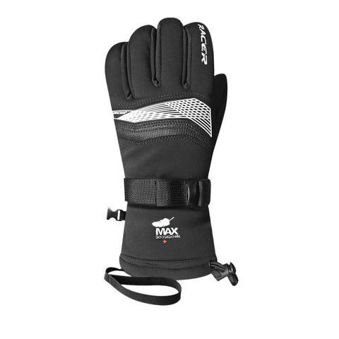 Racer ML200 Goose Down Ski Gloves (Black)-Little Adventure Shop
