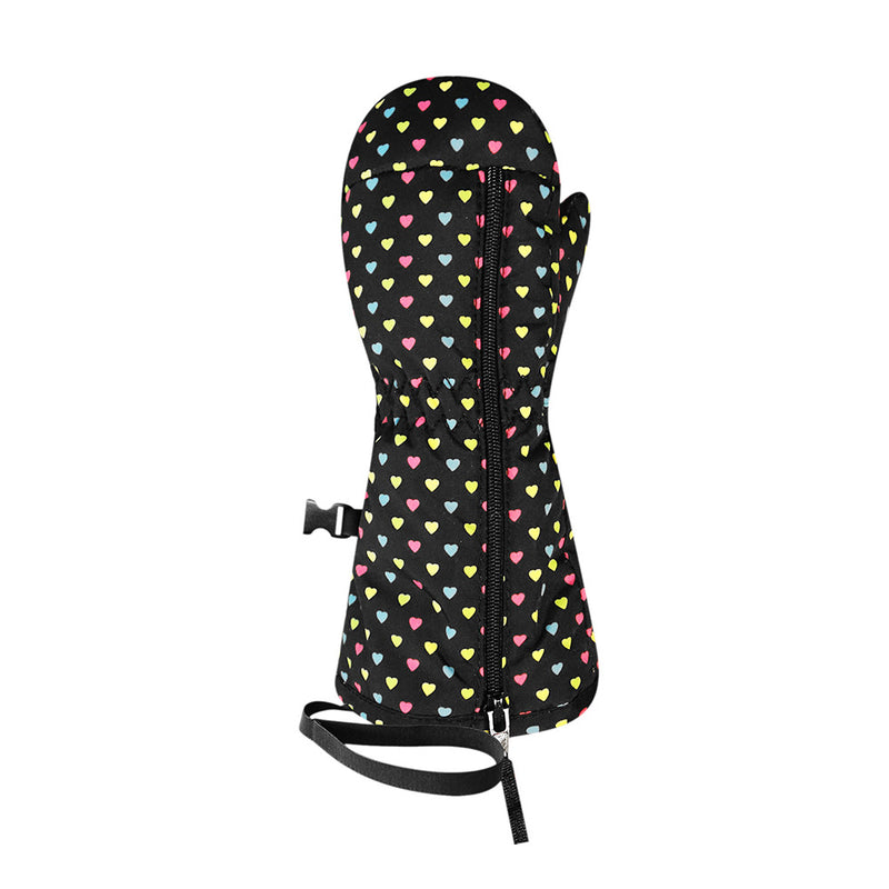 Racer Baby Print Mittens (Black Hearts)-Little Adventure Shop