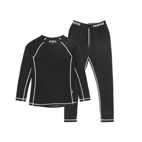 Reima Kids Lani Thermal Set (Black)-Little Adventure Shop