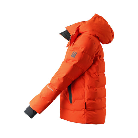 Reima Boys Wakeup Waterproof Down Jacket (Orange)-Little Adventure Shop
