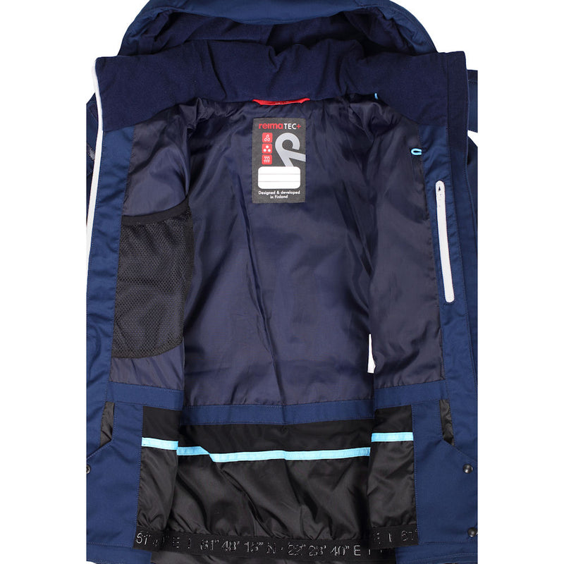 Reima Girls Waken Waterproof Down Jacket (Navy)-Little Adventure Shop