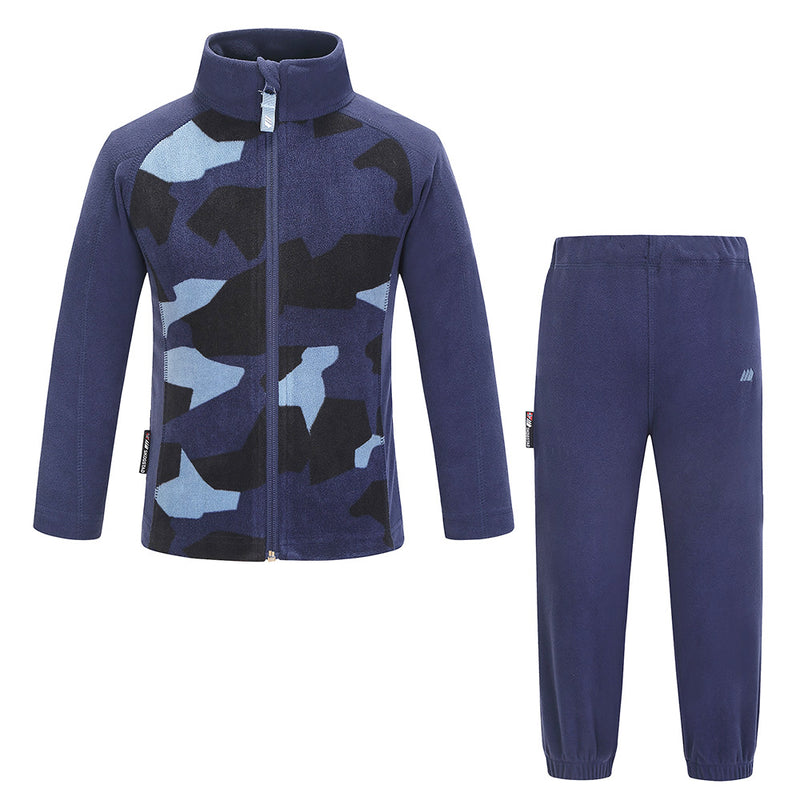 Skogstad Kids Trone Fleece Set (Navy)-Little Adventure Shop