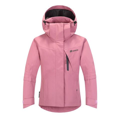 Skogstad Girls Blomhola Ski Jacket (Heather Rose)-Little Adventure Shop