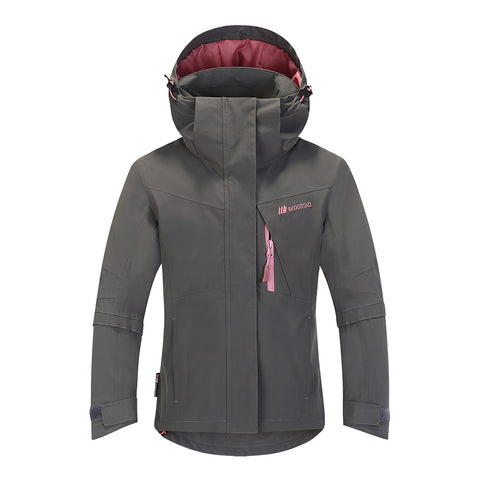 Skogstad Girls Blomhola Ski Jacket (Dark Grey)-Little Adventure Shop