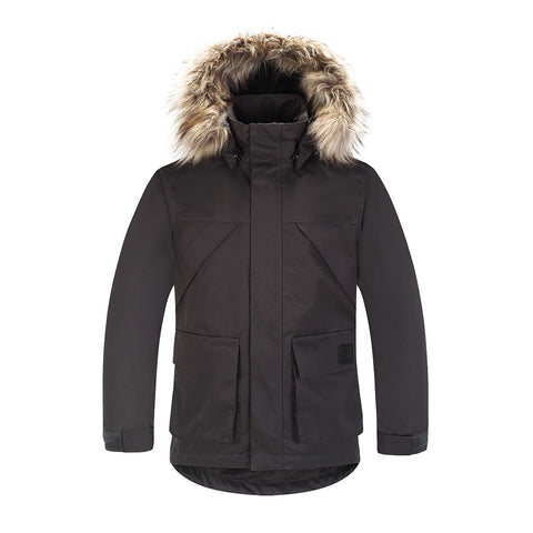 Skogstad Boys Technical Parka (New Anthracite)-Little Adventure Shop