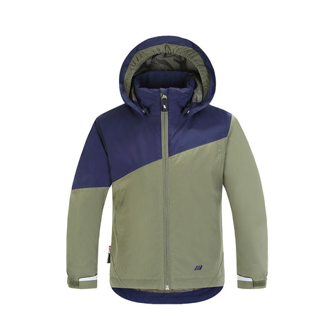 Skogstad Boys Mini Winter Jacket (Four Leaf)-Little Adventure Shop