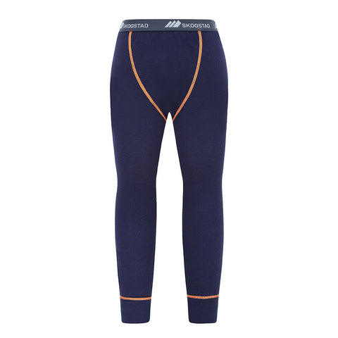 Skogstad Boys Jostedal Merino Wool Thermal Bottoms (Navy)-Little Adventure Shop