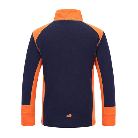 Skogstad Boys Jostedal Merino Wool Thermal Top (Navy)-Little Adventure Shop