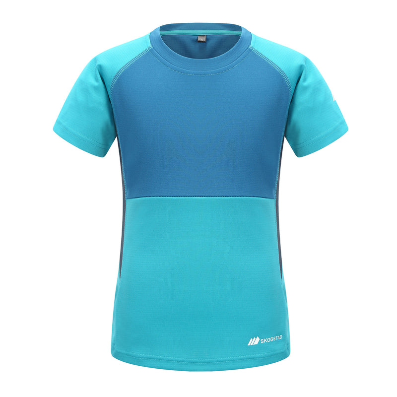 Skogstad Girls Technical T-Shirt (Bright Petrol)-Little Adventure Shop