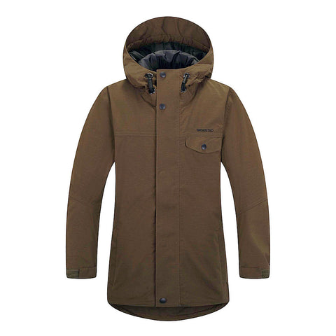 Skogstad Boys Rensvik Waterproof Long Jacket (Army)