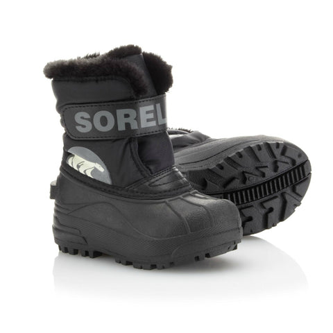 Sorel Snow Commander Kids Snow Boots (Black)-Little Adventure Shop