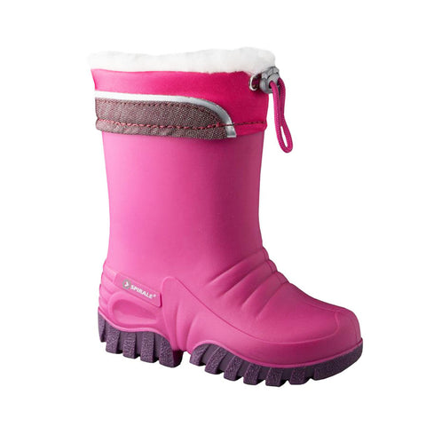 Mammal Bounce Kids Winter Wellington Boots (Pink)-Little Adventure Shop
