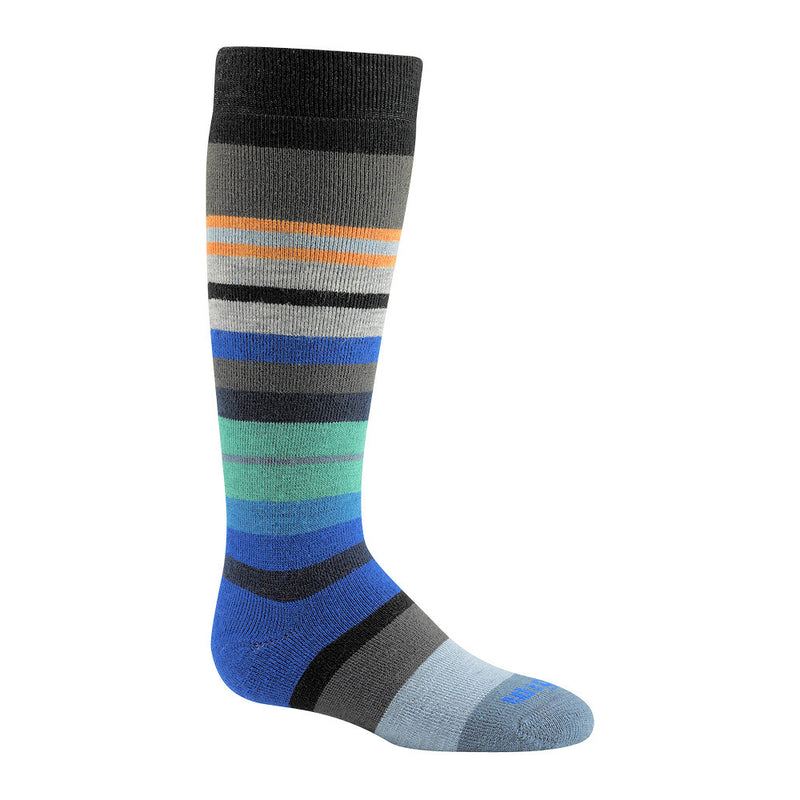 Wigwam Snow Force Boys Ski Socks (Black Stripe)-Little Adventure Shop
