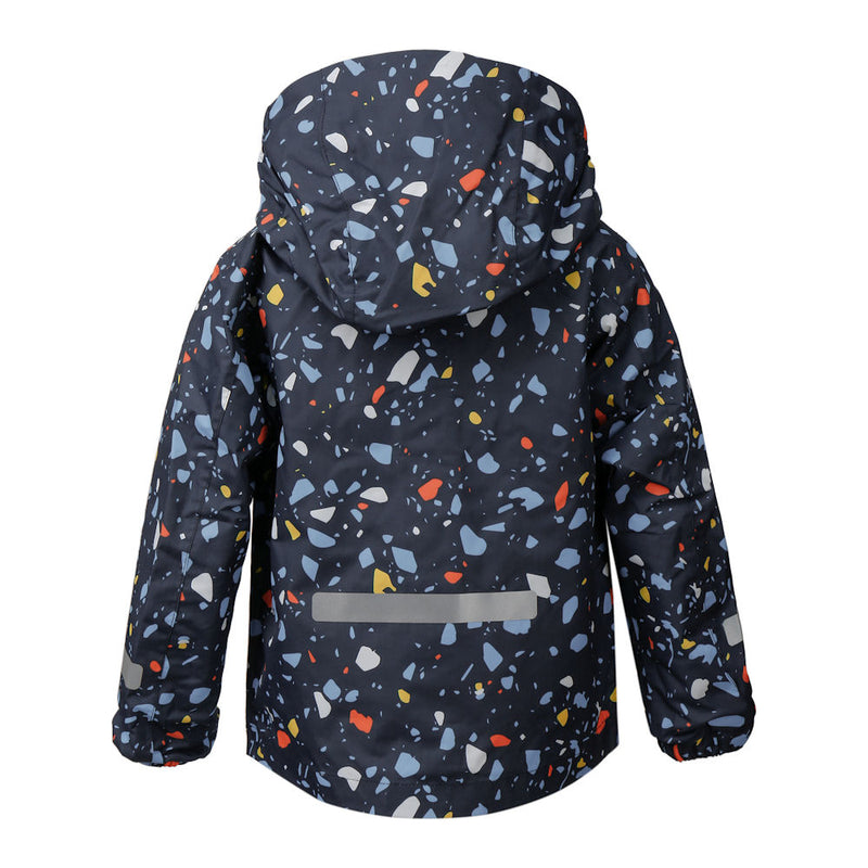 Didriksons Droppen Printed Kids Jacket (Navy)-Little Adventure Shop