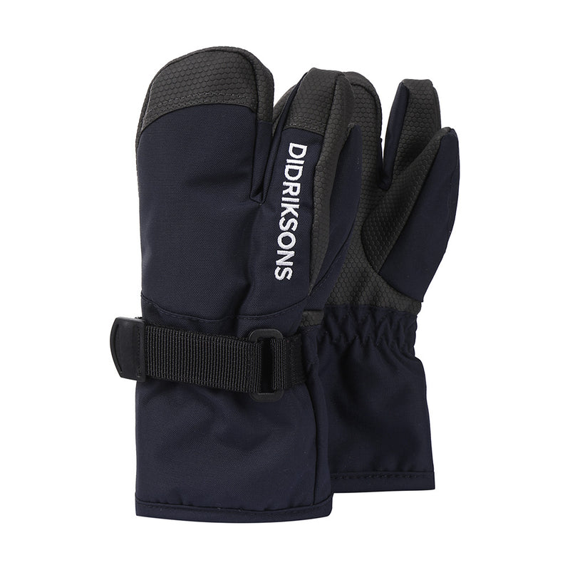 Didriksons Kids Fossa 3-fingered Gloves (Navy)-Little Adventure Shop