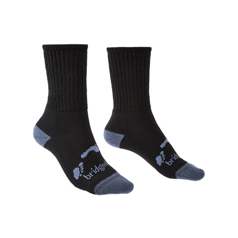 Bridgedale Junior Hike Socks (Black)-Little Adventure Shop