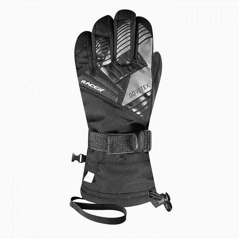 Racer Giga Kids Gore-Tex Ski Gloves (Black)-Little Adventure Shop