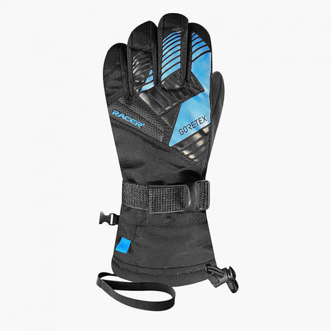 Racer Giga Kids Gore-Tex Ski Gloves (Blue)-Little Adventure Shop